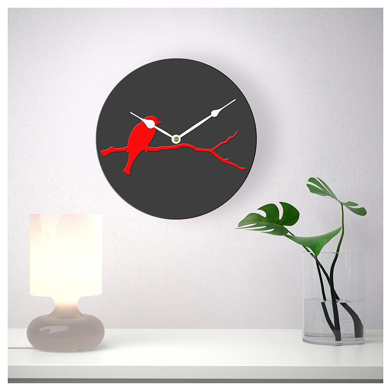 Sehaz Artworks Bird Round Wooden Wall Clock
