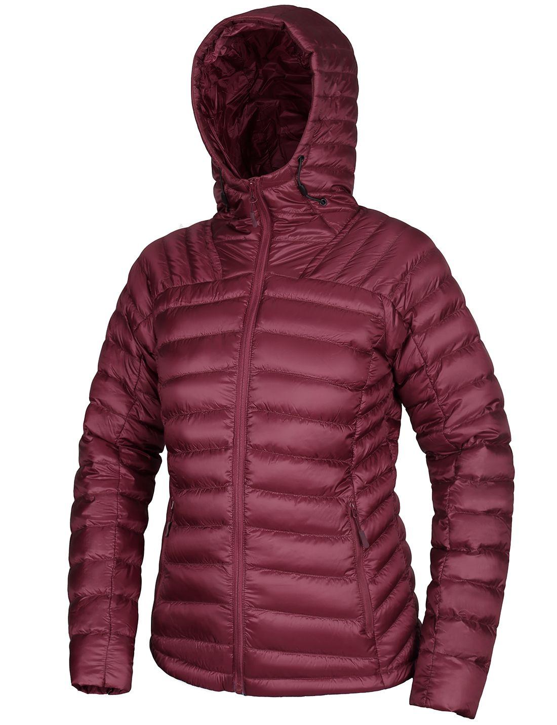 Cromoncent Mens Winter Hooded Zip Up Fleece Overcoat Down Jackets Coat