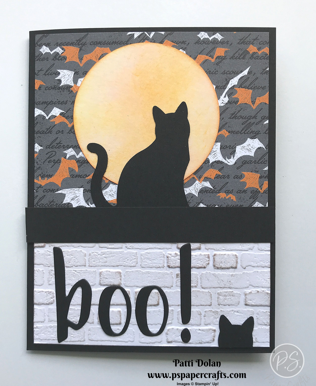Fun Halloween Black Cat Card P S Paper Crafts Halloween Cards Handmade Halloween Cards Diy Halloween Cards