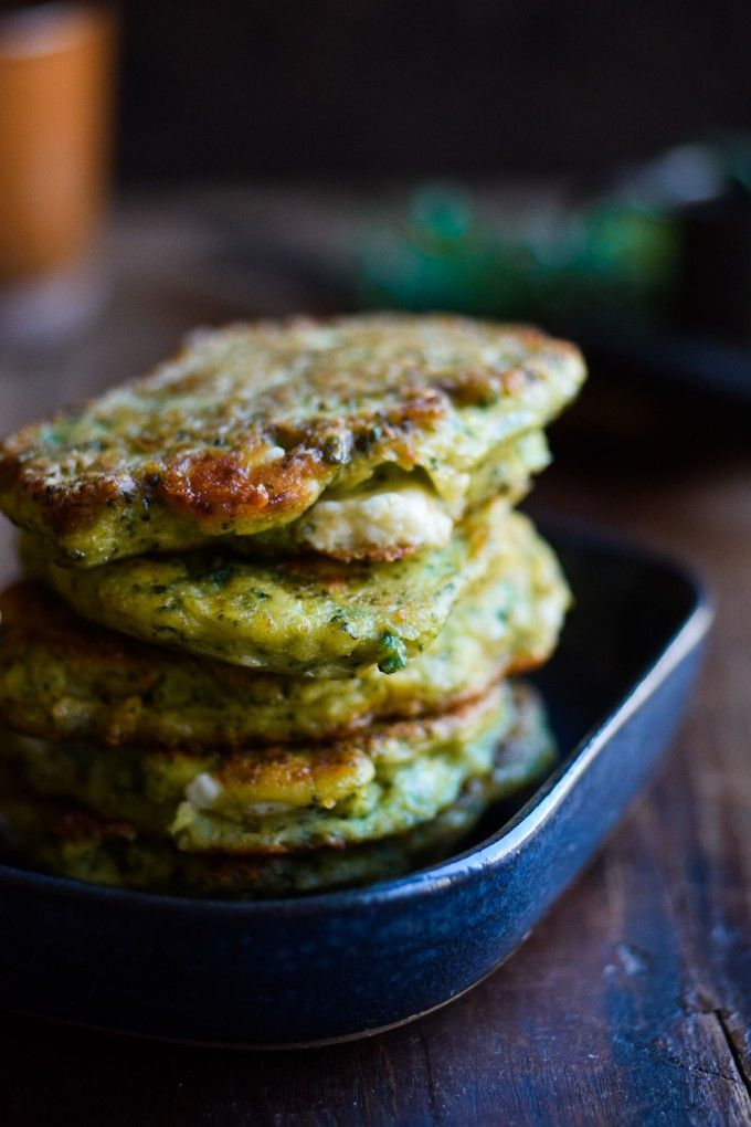 Pancakes - serve with extra feta, olives, and homemade hummus