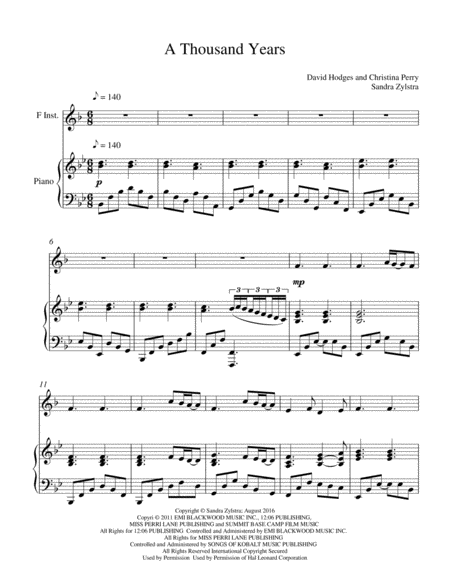 A Thousand Years Piano Solo Sheet Music Mersnoforum