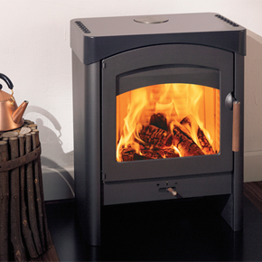 The Austroflamm Pallas Stove With Steel Cladding And Cooking