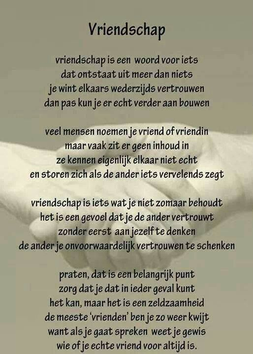 Welp Gaat vriendschap dan alleen om geven - Plazilla.com | Gedichten UE-75