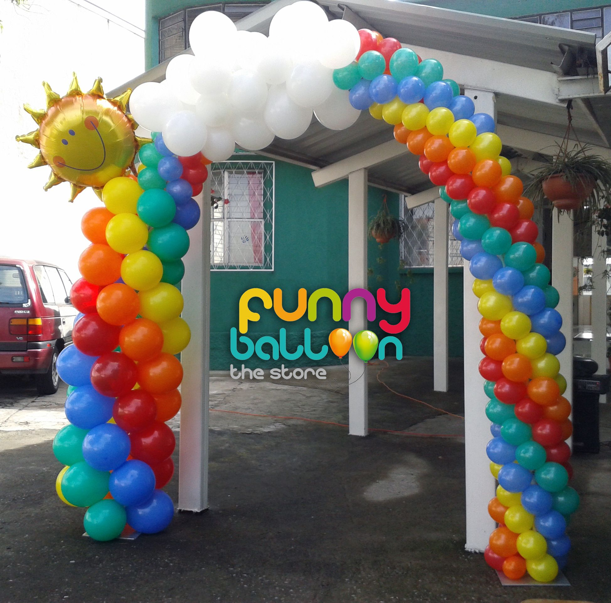 Balloon arch balloon decor pinterest for Balloon decoration arches
