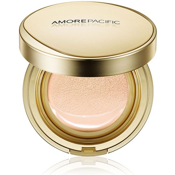 Amore Pacific Age Correcting Foundation Cushion Broad Spectrum SPF 25 (£65) ❤ liked on Polyvore featuring beauty products, makeup, face makeup, foundation and amorepacific