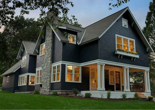 7 Popular Siding Materials To Consider: Image Result For Dark Blue Modern Farmhouse