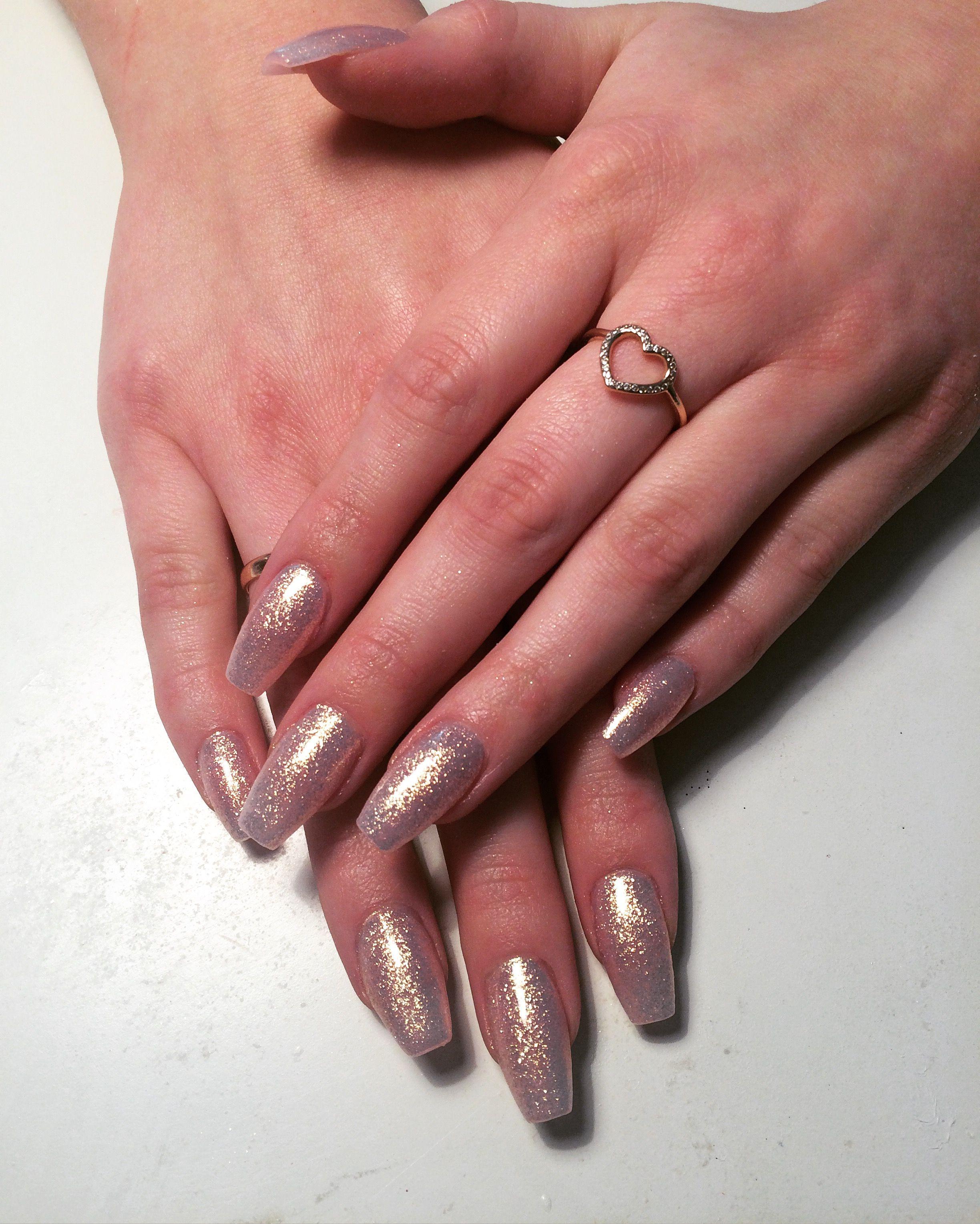 Fairy dust acrylic nails | beauty | Pinterest | Fun nails