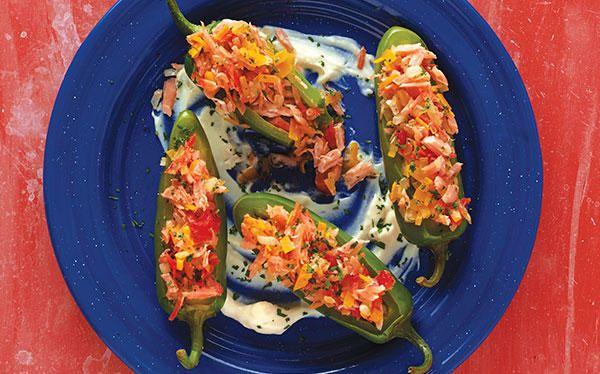 Jalapeños rellenos de marlín ahumado - Cocina Vital | Jalapeños rellenos,  Chiles jalapeños rellenos, Cocina vital