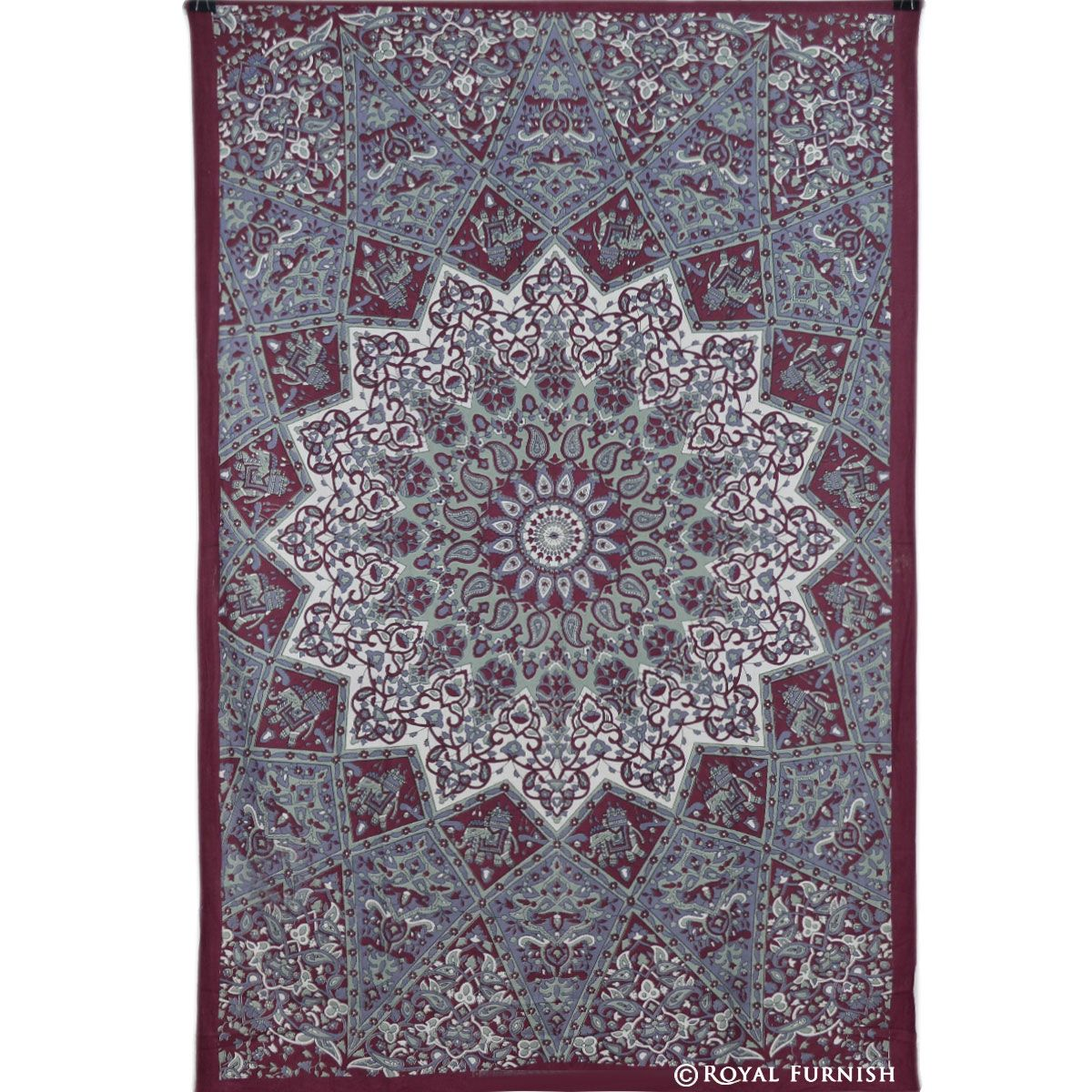 Superior Maroon Small Indian Dorm Decor Star Hippie Tapestry Wall Hanging Home Decor  Art Gallery