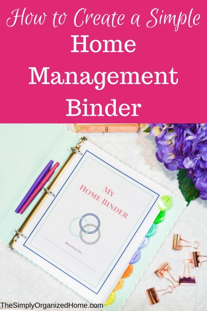 home management binder | home binder | homemaking | home organization | paper clutter