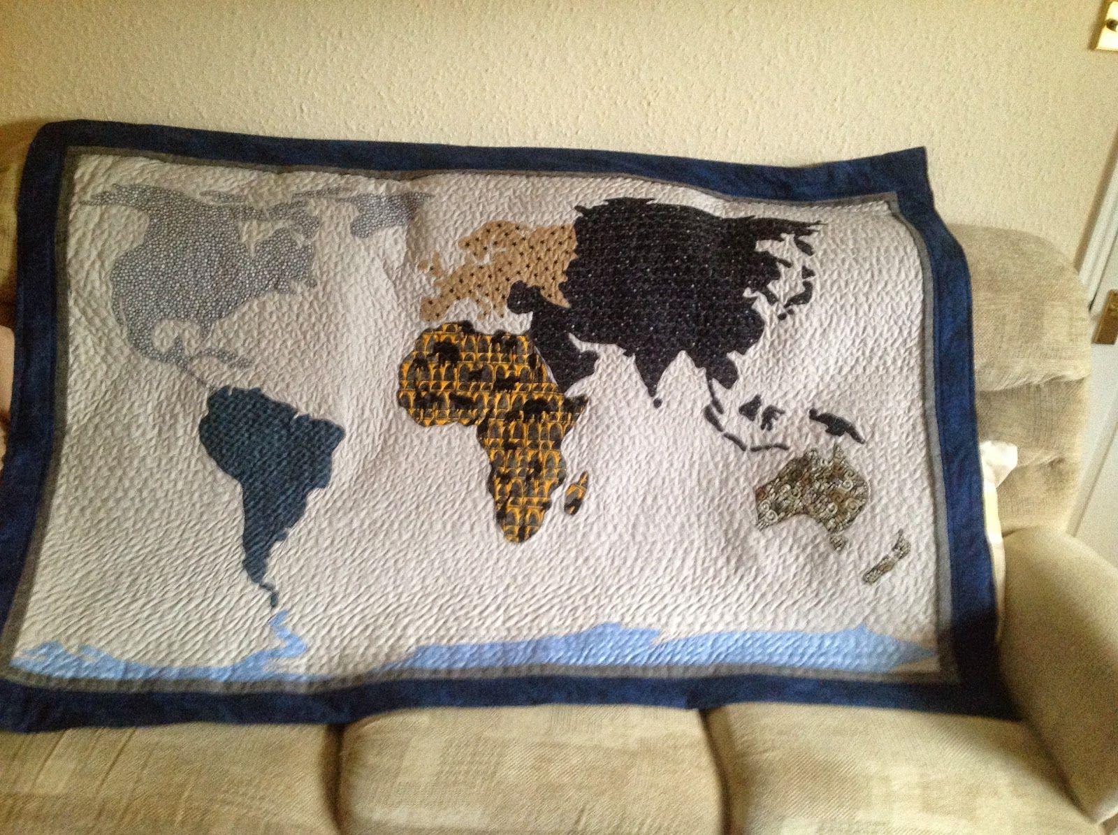 World map quilt quilts maps pinterest mapas world map quilt gumiabroncs Gallery