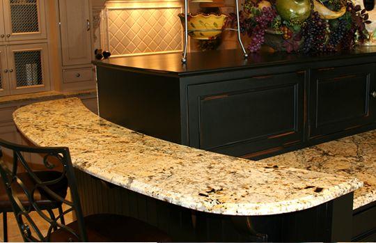 Granite Countertop Installation With Rounded Corners Cozinha