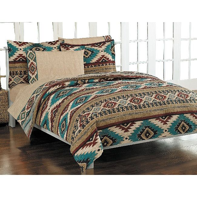 Bedding Features A Geometric Southwest Pattern In Colors