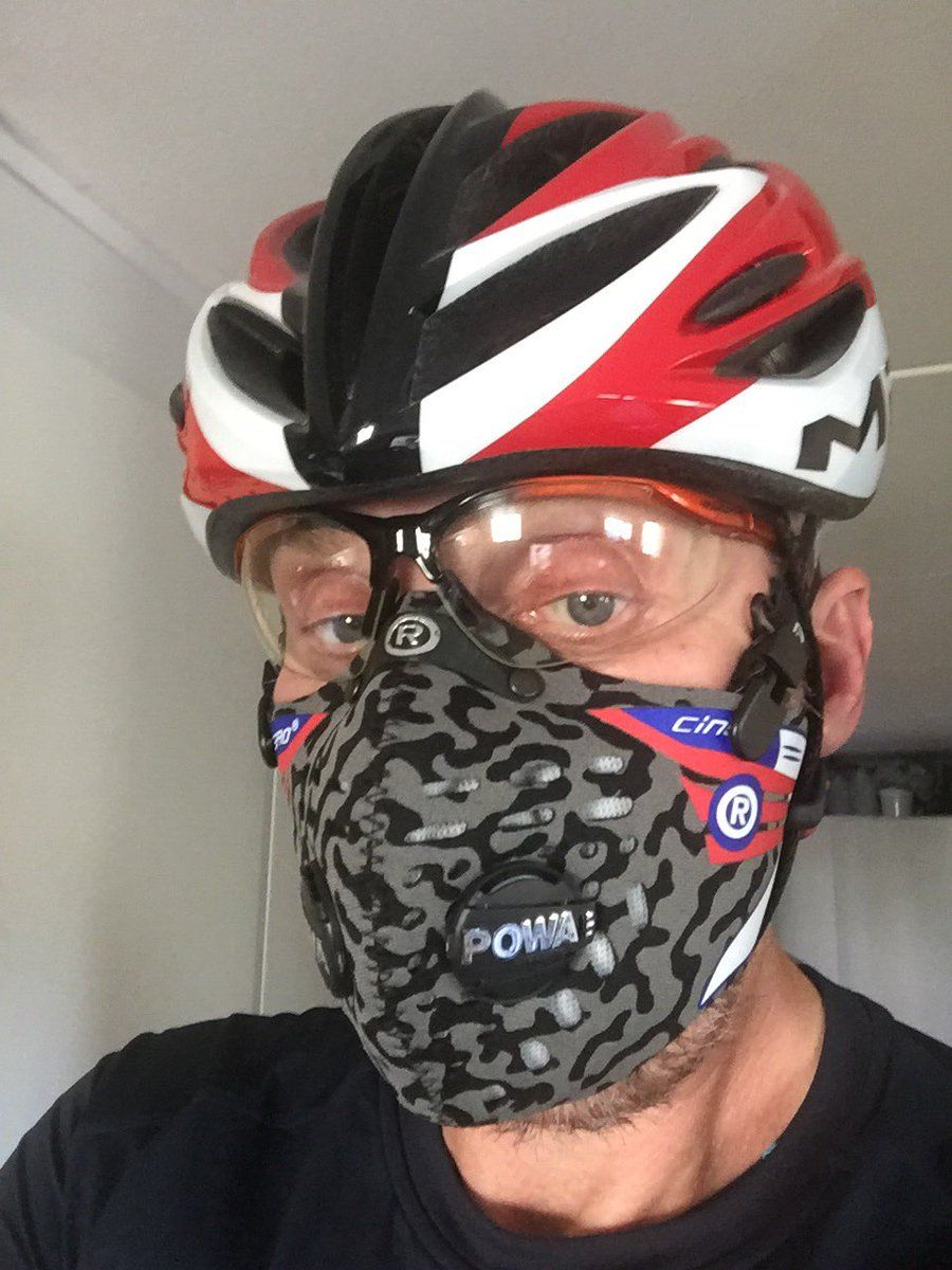 Time for a cycle trip!👍 Well protected with my Respro mask