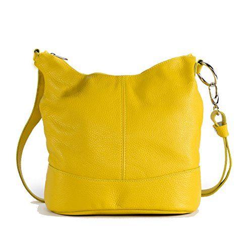 0f20c82790d2 OH MY BAG Sac à main femme en cuir porté bandoulière Modèle Beaubourg  (JAUNE) - nouvelle collection 2018
