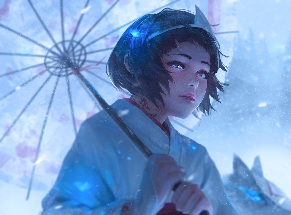 digital art, Artwork, Umbrella, Noragami, Nora (Noragami