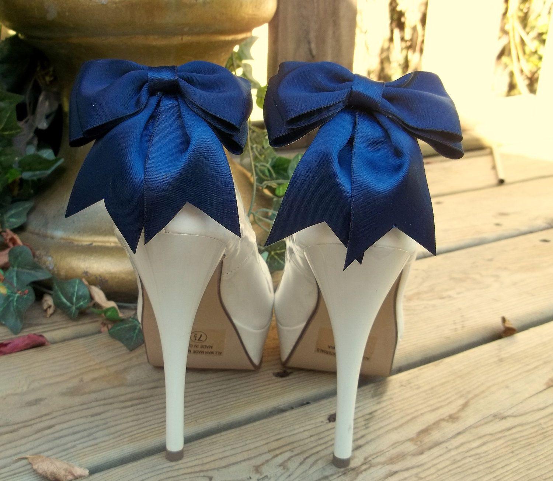 Bridal shoe clipswedding accessories bridal accessories navy blue