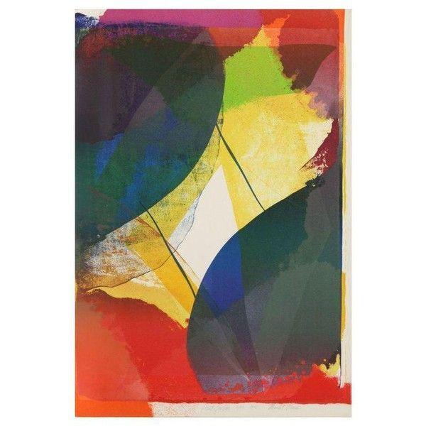 Paul Jenkins - Mourlot Paris Lithograph (£990) ❤ liked on Polyvore ...