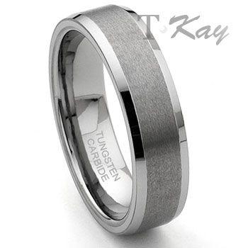 corsal tungsten carbide satin mens wedding ringbandcorsa - Man Wedding Rings