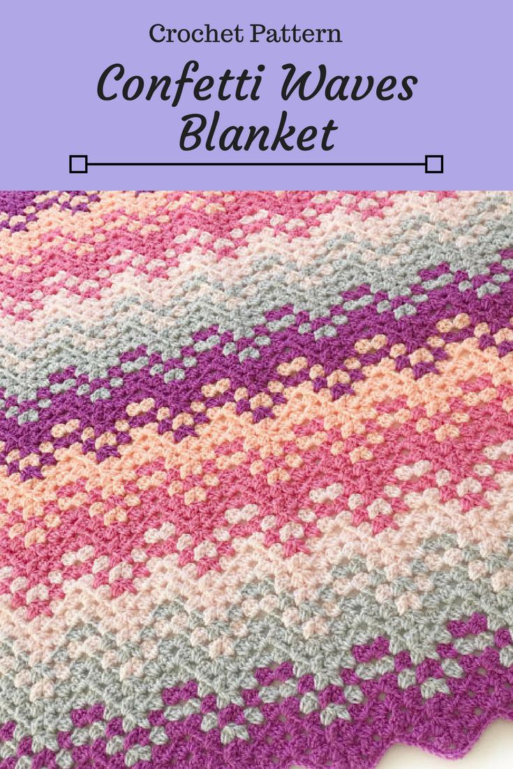 Confetti Waves Blanket Crochet Pattern Etsy Download Affiliate
