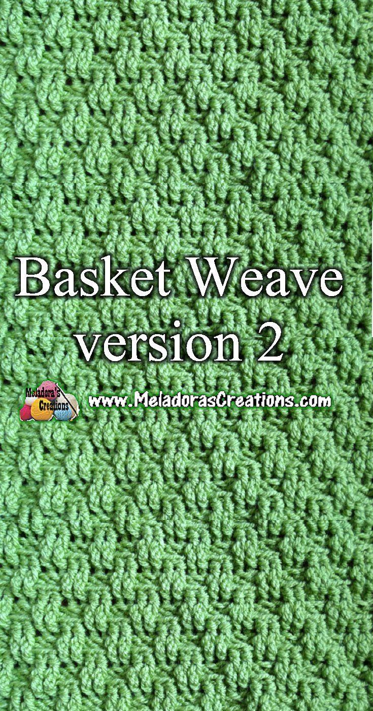 Crochet basketweave stitch tutorial | Crochet~ afghans | Pinterest ...