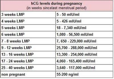 Hcg Levels Chart Pregnancy After Loss Ectopic Info Health
