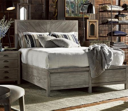 French Printer S Rustic Gray Wood Queen Storage Platform Bed In 2020 Universal Furniture Rustic Storage Bed Bedroom Furniture