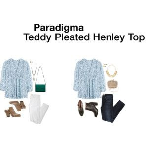 Paradigma Teddy Pleated Henley Top