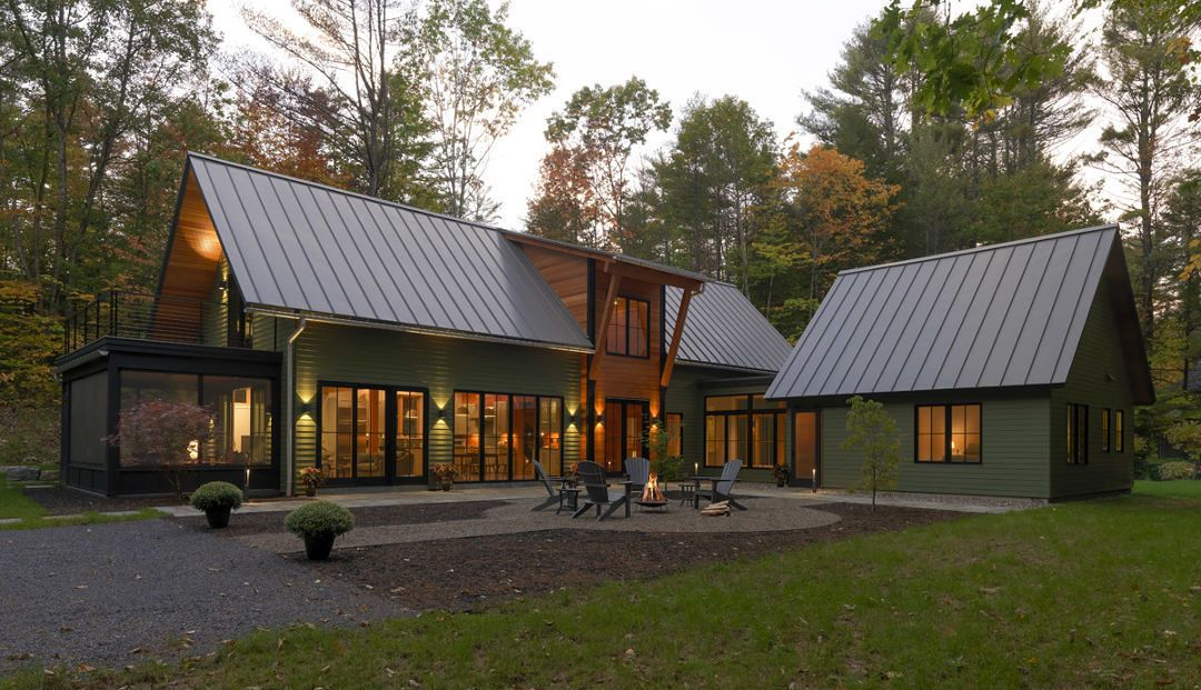 Houses By Design New Old Camp In The Adirondacks Fine Homebuilding Building A House Modern Lake House Modern Barn House