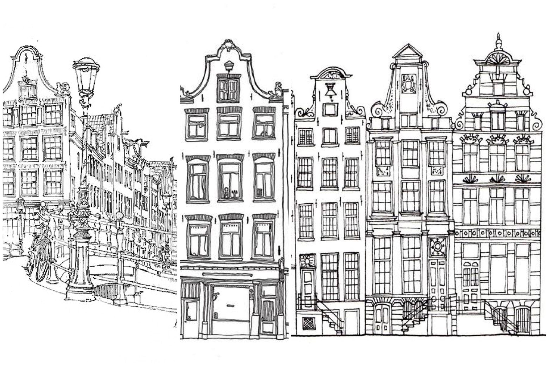 Gambar Pemandangan Kota Untuk Diwarnai