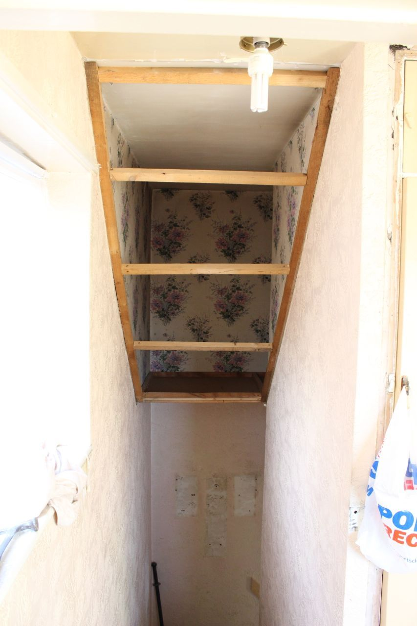 Over Wardrobe Storage what the inside of that funky wall over the stairs probably looks