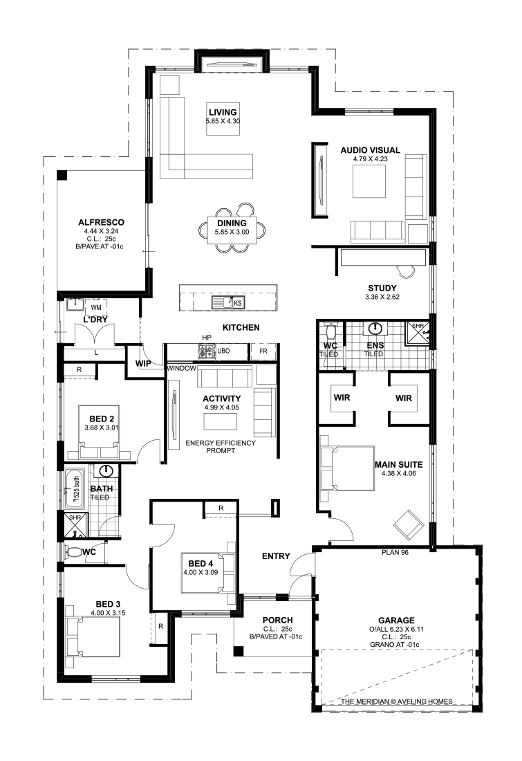 Floor plan friday 4 bedroom theatre activity and study - Single story 4 bedroom modern house plans ...