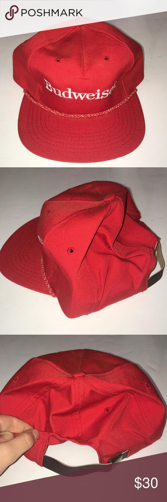 Men S Budweiser Vintage Hat Deadstock Hats Vintage Deadstock Hats