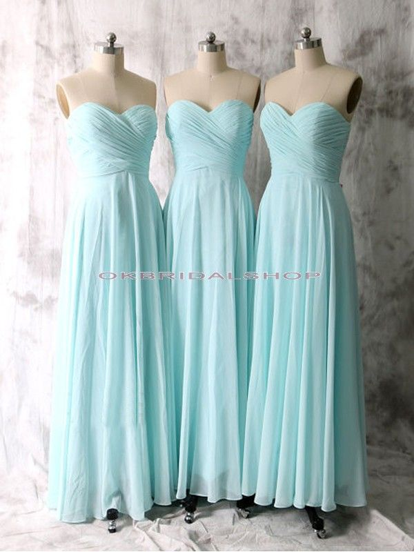 long bridesmaid dresses, tiffany blue bridesmaid dresses, strapless ...