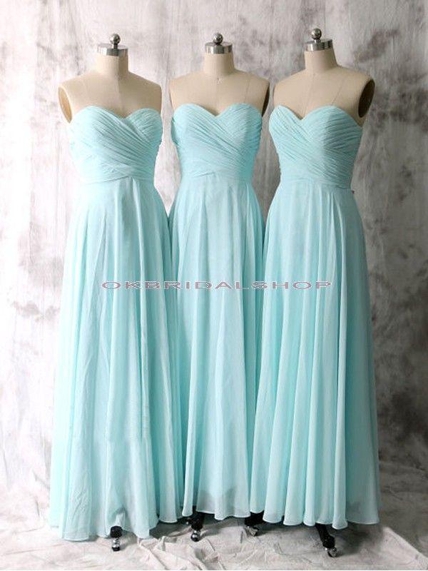 long bridesmaid dresses, tiffany blue bridesmaid dresses, strapless ...