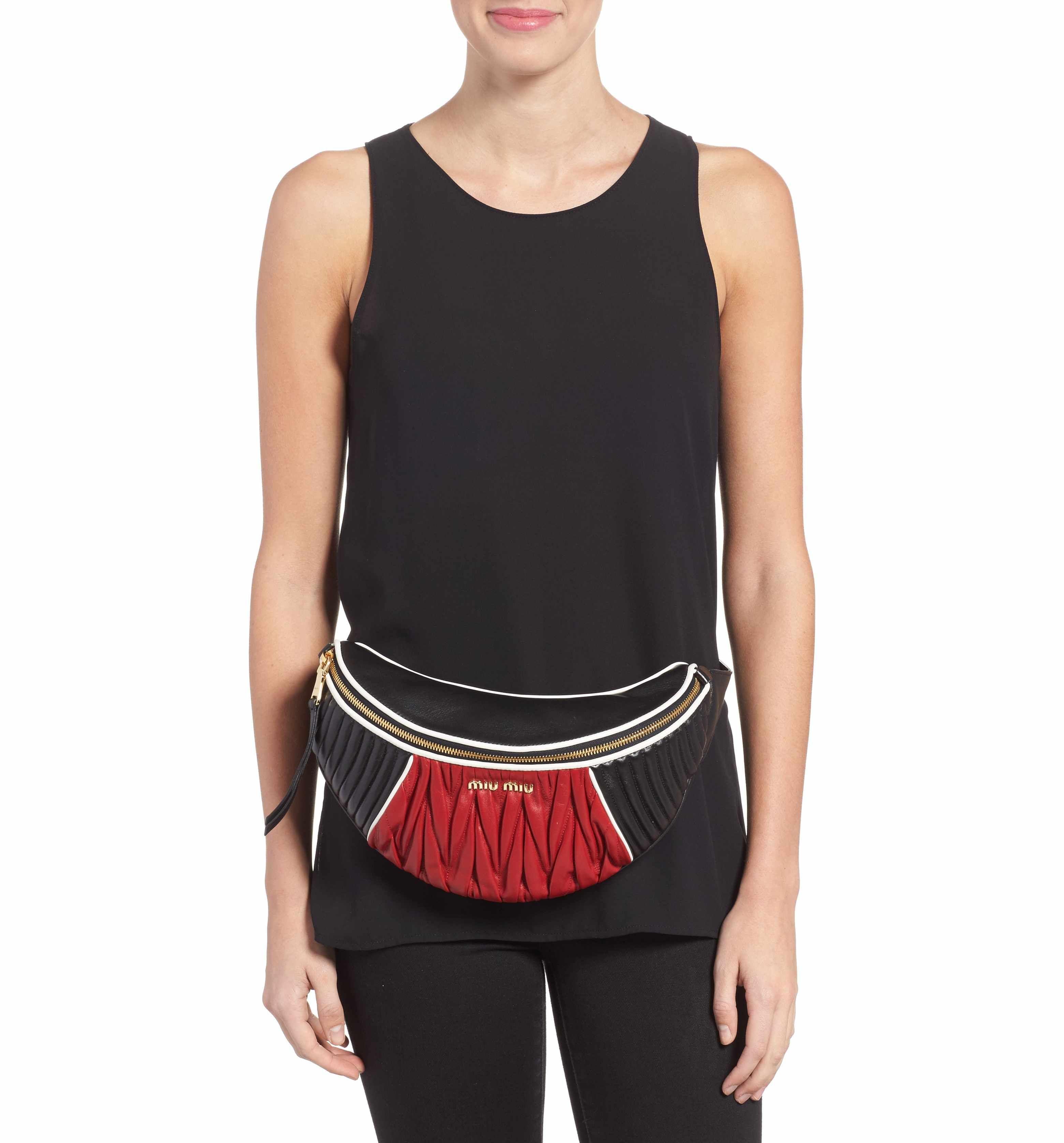 e218586d8b8a Miu Miu Rider Matelassé Leather Belt Bag | KABELKY / HANDBAGS & BAGS ...