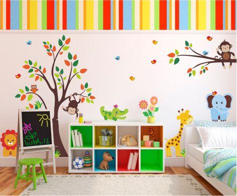 Vinilo decorativo infantil Animales de la selva | deco | Pinterest ...