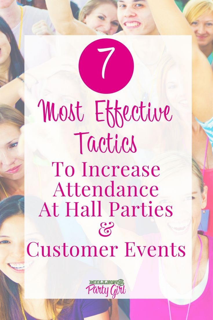 Increase Attendance At Hall Parties And Other Direct Sales