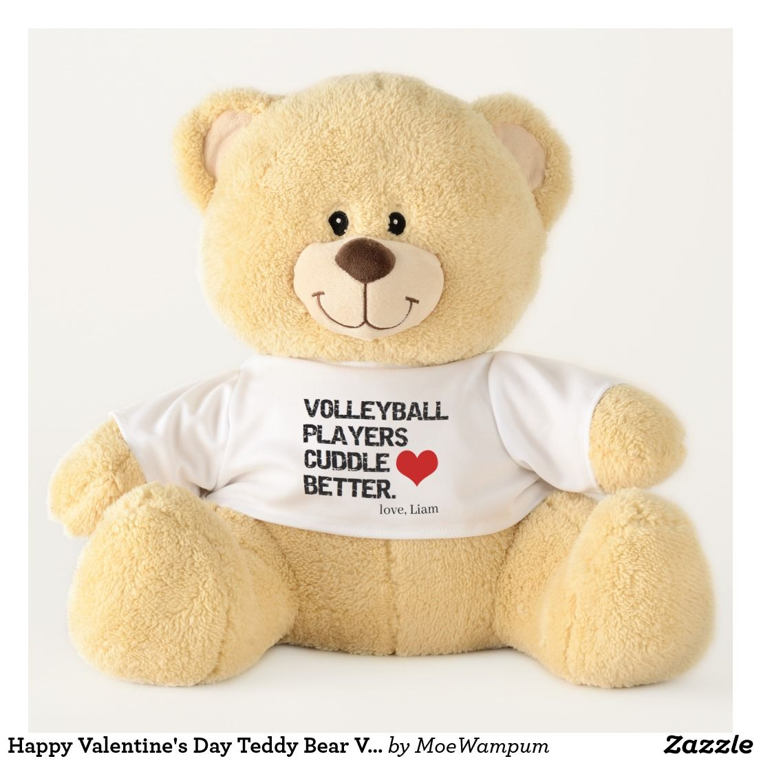 Happy Valentine S Day Teddy Bear Volleyball Player With Images Valentines Day Teddy Bear Large Teddy Bear Personalised Teddy Bears