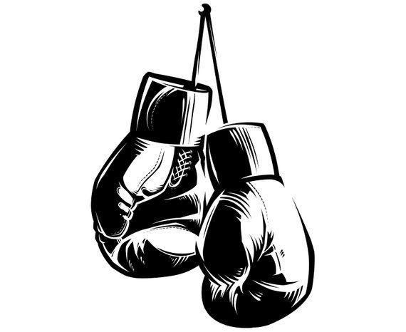 Boxing Gloves Silhouette Svg Graphics Illustration Vector Logo Digital Clipart Gloves Boxing Gloves Silhou Boxing Gloves Tattoo Boxing Tattoos Boxing Gloves
