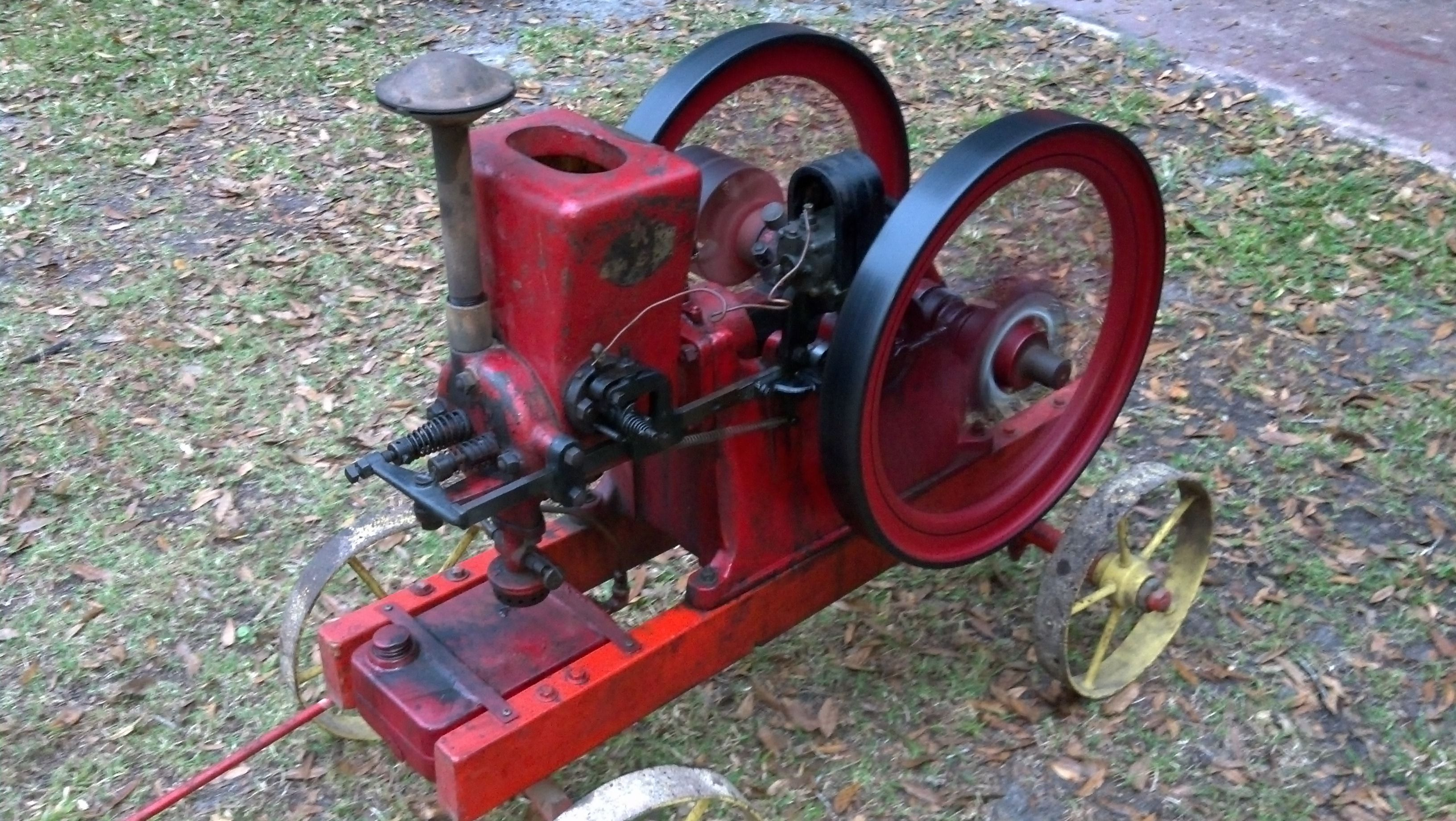 1924 --2 and 1/2 hp associated hit and miss engine on original
