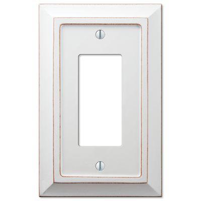 amerelle savannah 1gang white decorator rocker wood wall plate