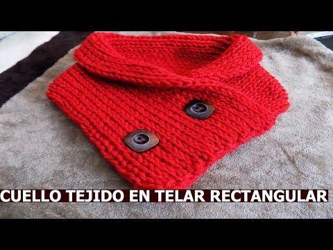 Cómo tejer una bufanda básica con telar rectangular en punto cruzado ...