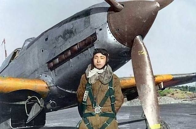 RARE JAPANESE PILOT IN COLOUR PICTURE