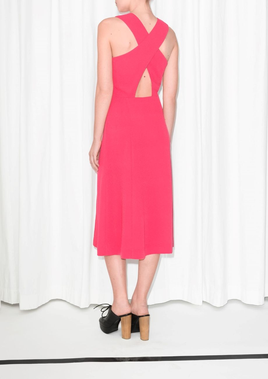 Pink cut out dress  Cutout Dress  Pink  Pink u other stories and Dress in