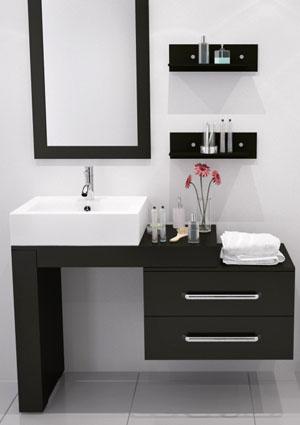 Allaskaappi muodostaa kylpyhuoneen säilytyksen perustan yhdessä muiden kaappien kanssa