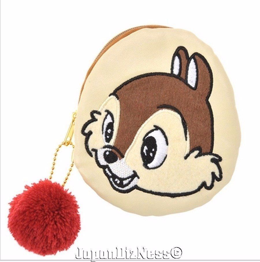 New Japan Disney Store Chip & Dale New Life Series Coin Pouch #JapanDisneyStore