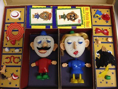 Vintage Mr. and Mrs. Potato Head Funny Face Combination Kit No. 2004 |  Vintage toys, Funny faces, Old toys