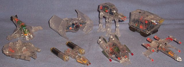 MicroMachines Star Wars X-Ray Fleet Collection I Galoob