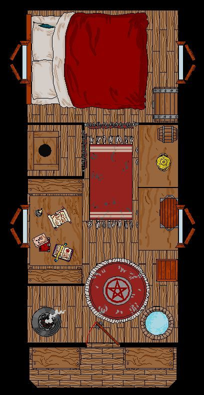 gypsy vardo floorplan. | i wonder how large it actually is; could i